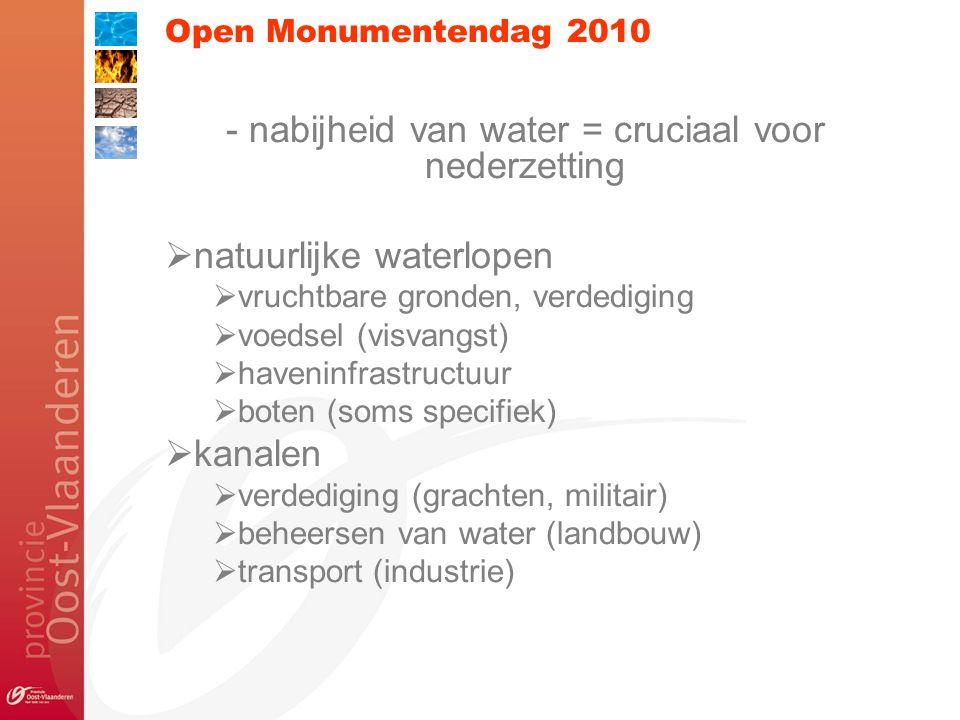 Open Monumentendag 2010 Water als krachtbron: watermolens, hoosmolens, poldermolens Verdwenen?.