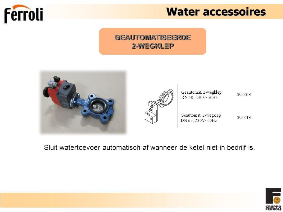 Water accessoires GEAUTOMATISEERDE 2-WEGKLEP Geautomat. 2-wegklep DN 50, 230V  50Hz Geautomat. 2-wegklep DN 65, 230V  50Hz Sluit watertoevoer automa