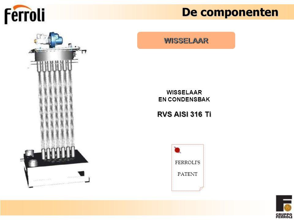 FERROLI'SPATENT WISSELAAR EN CONDENSBAK RVS AISI 316 Ti De componenten De componenten WISSELAAR
