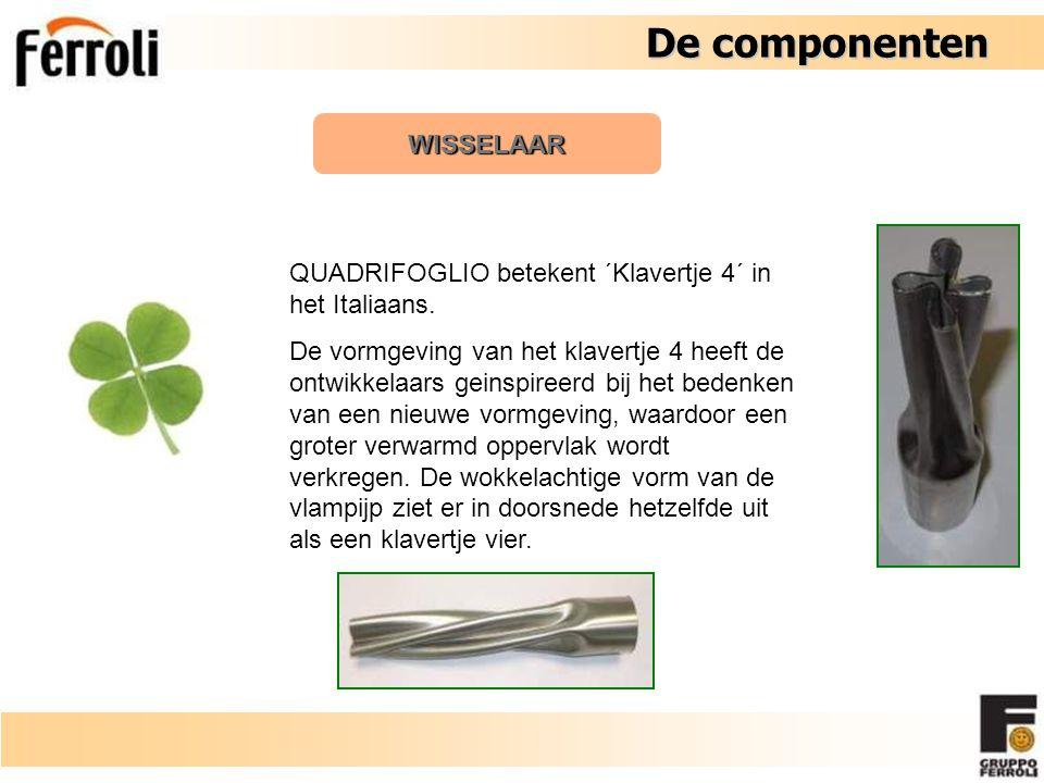 De componenten De componenten WISSELAAR De spiraalvormige pijpen zijn speciaal ontwikkeld om een zo groot mogelijke warmteoverdracht te verkrijgen.