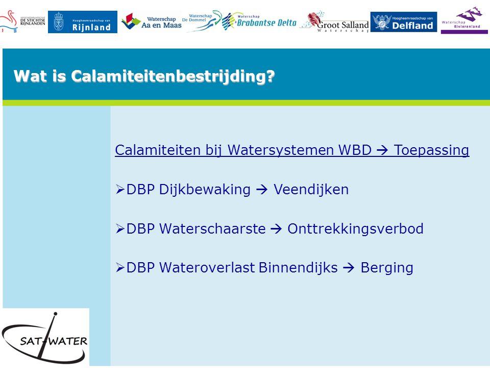 DBP Dijkbewaking  Veendijken Lange droge periodes veroorzaken instabiele veenkades.