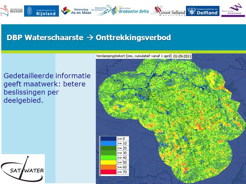 Gedetailleerde informatie geeft maatwerk: betere beslissingen per deelgebied.