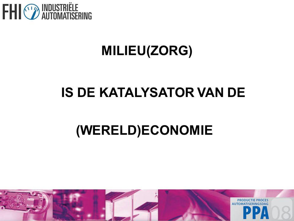 MILIEU(ZORG) IS DE KATALYSATOR VAN DE (WERELD)ECONOMIE