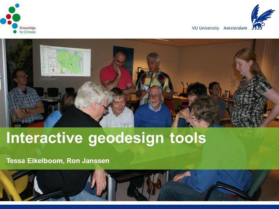 Tessa Eikelboom, Ron Janssen Interactive geodesign tools