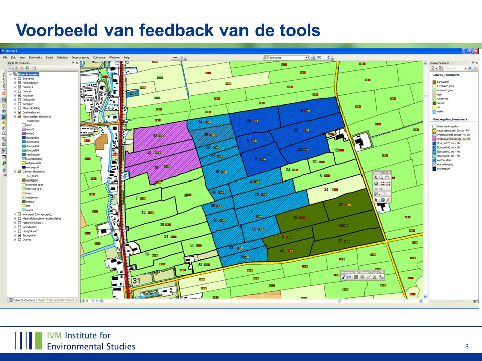 6 Voorbeeld van feedback van de tools