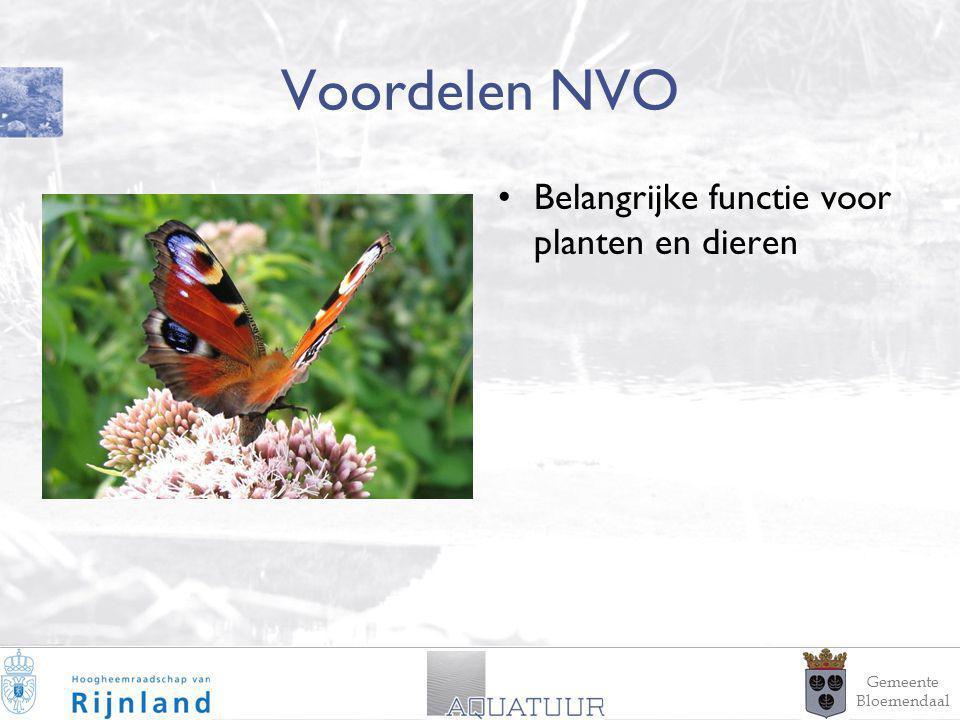 6 Voordelen NVO Belangrijke functie voor planten en dieren Gemeente Bloemendaal