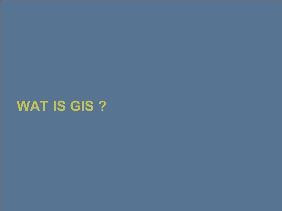 22 februari 2006 3 GIS voegt bijkomende functionele mogelijkheden toe aan informatiesystemen  Nabijheid Met het gebruik van geografische informatie kunnen we gegevens en fenomenen met elkaar combineren die geen enkel rechtstreeks verband hebben, behalve dat ze zich in elkaars nabijheid voordoen  Connectiviteit Een navigatiesysteem kan niet werken met een GPS-positiebepaling alleen.