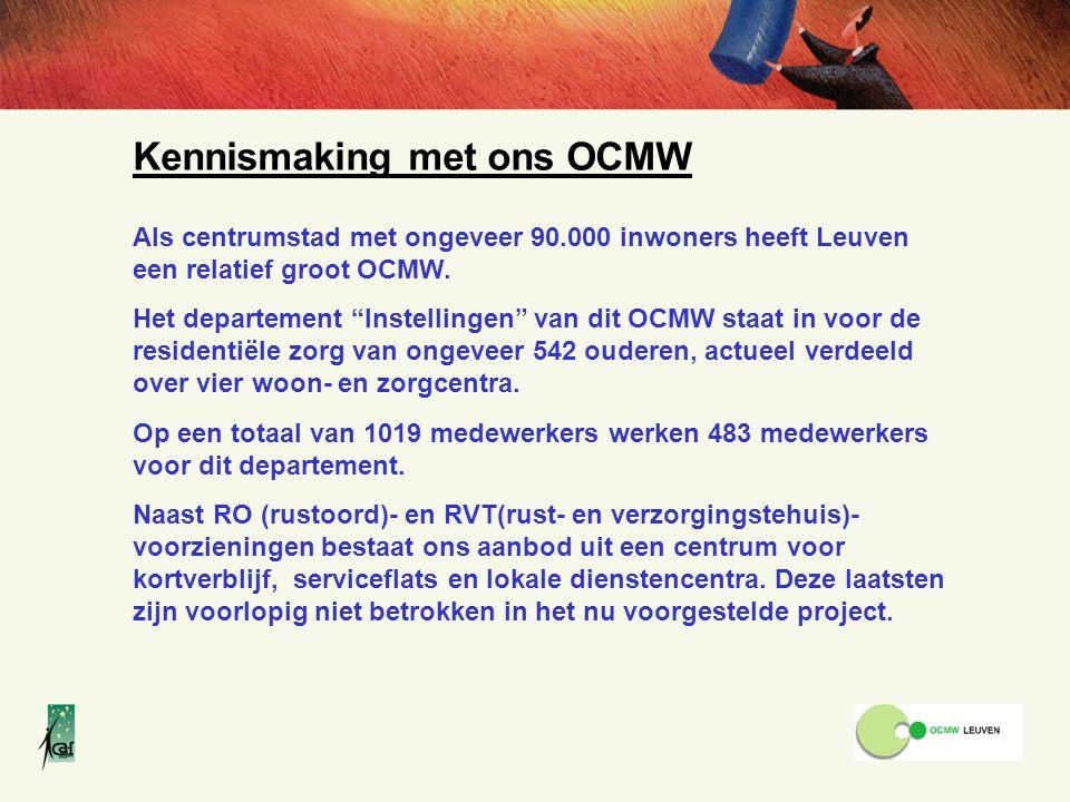 Kennismaking met ons OCMW Als centrumstad met ongeveer 90.000 inwoners heeft Leuven een relatief groot OCMW.