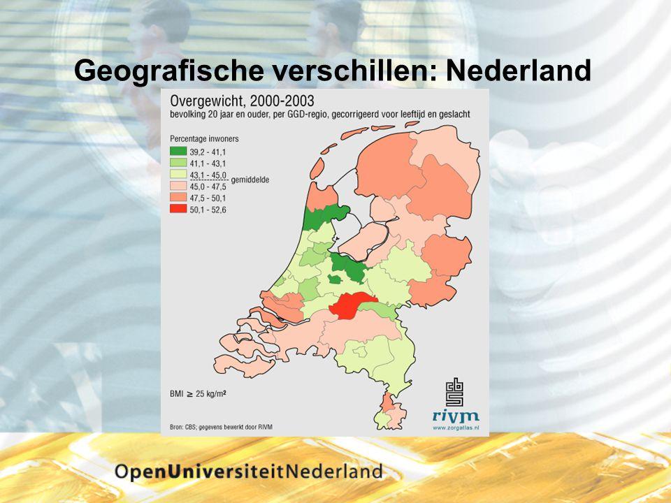 Geografische verschillen: Nederland
