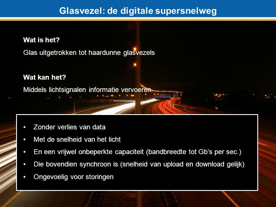 Glasvezel: de digitale supersnelweg Wat is het.