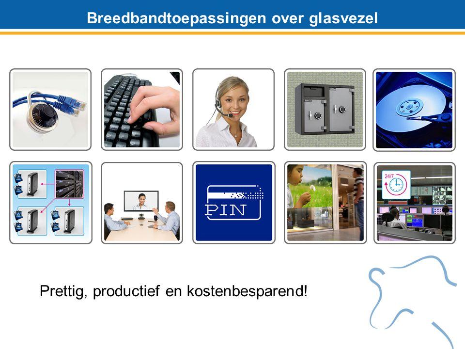 Breedbandtoepassingen over glasvezel Prettig, productief en kostenbesparend!