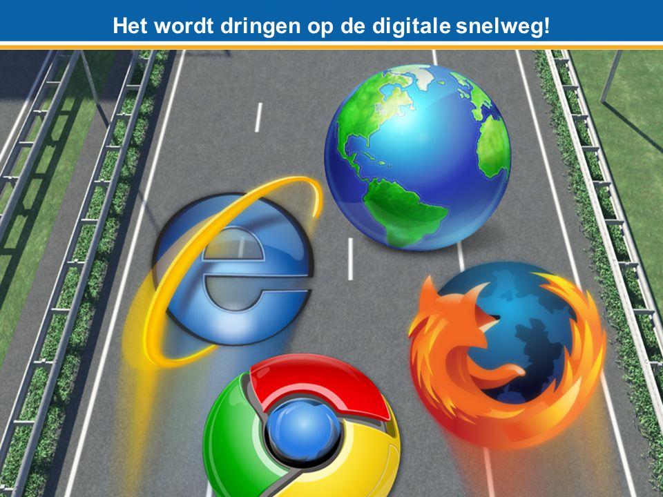 Het wordt dringen op de digitale snelweg!