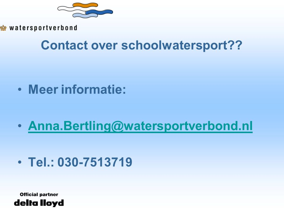 Contact over schoolwatersport .