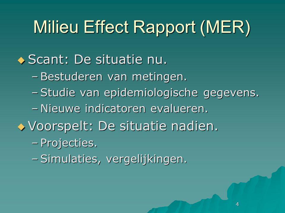 4 Milieu Effect Rapport (MER)  Scant: De situatie nu.
