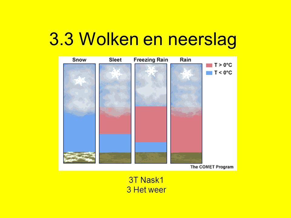 3.3 Wolken en neerslag 3T Nask1 3 Het weer
