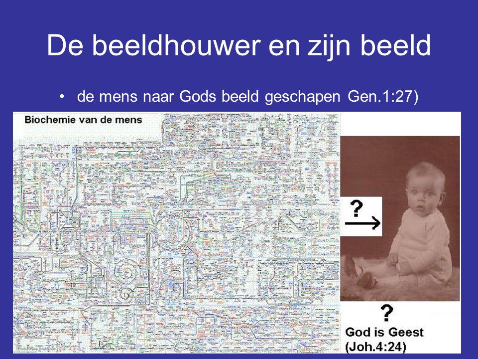 De beeldhouwer en zijn beeld de mens naar Gods beeld geschapen Gen.1:27)