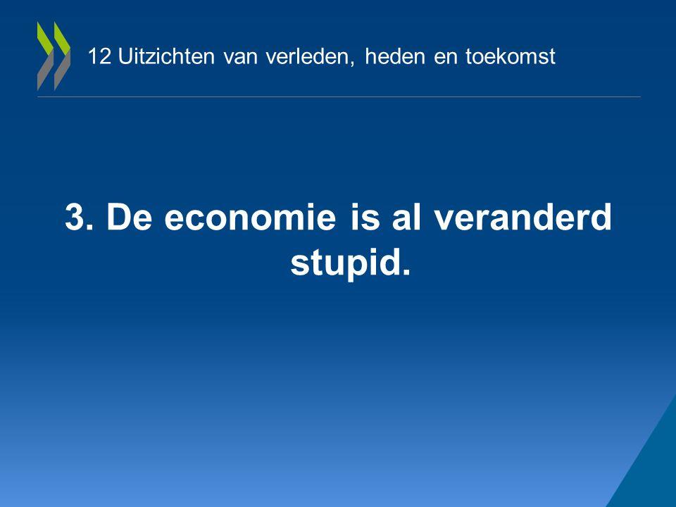 12 Uitzichten van verleden, heden en toekomst 3. De economie is al veranderd stupid.