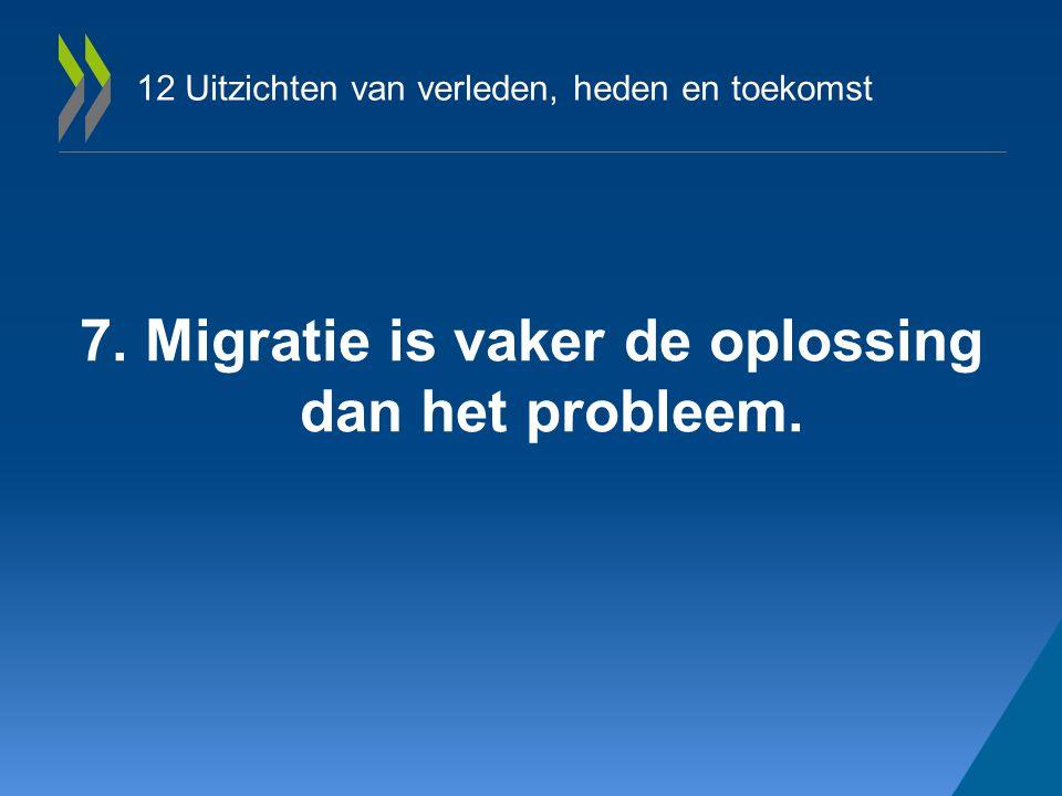 12 Uitzichten van verleden, heden en toekomst 7. Migratie is vaker de oplossing dan het probleem.