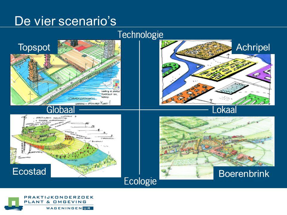 De vier scenario's Topspot Ecostad Achripel Boerenbrink