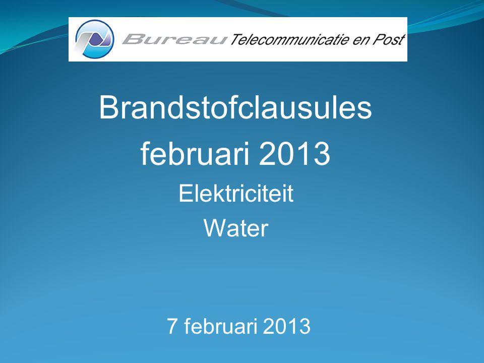 Brandstofkosten februari 2013 1202/07/2013Bureau Telecommunicatie en Post