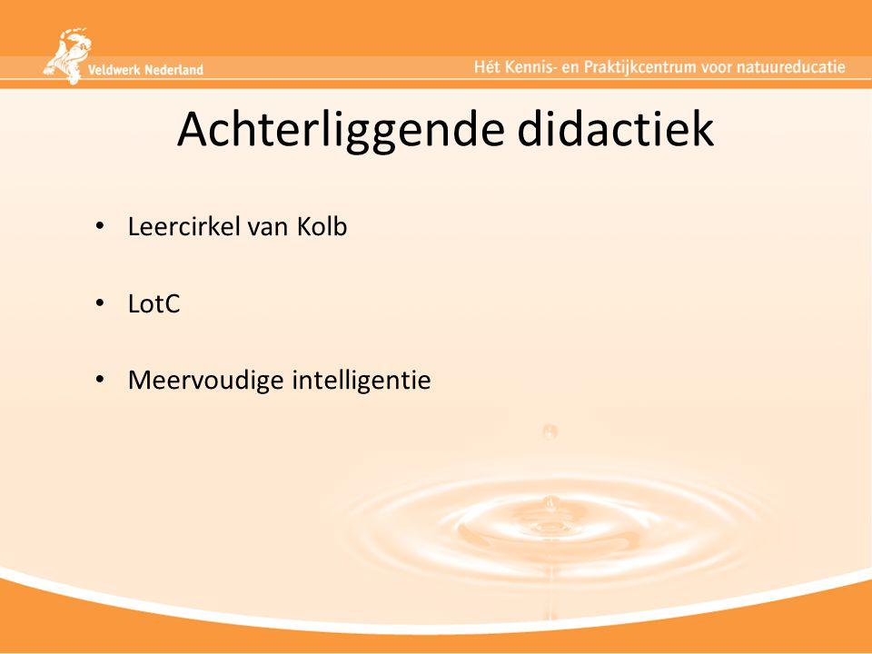 Achterliggende didactiek Leercirkel van Kolb LotC Meervoudige intelligentie