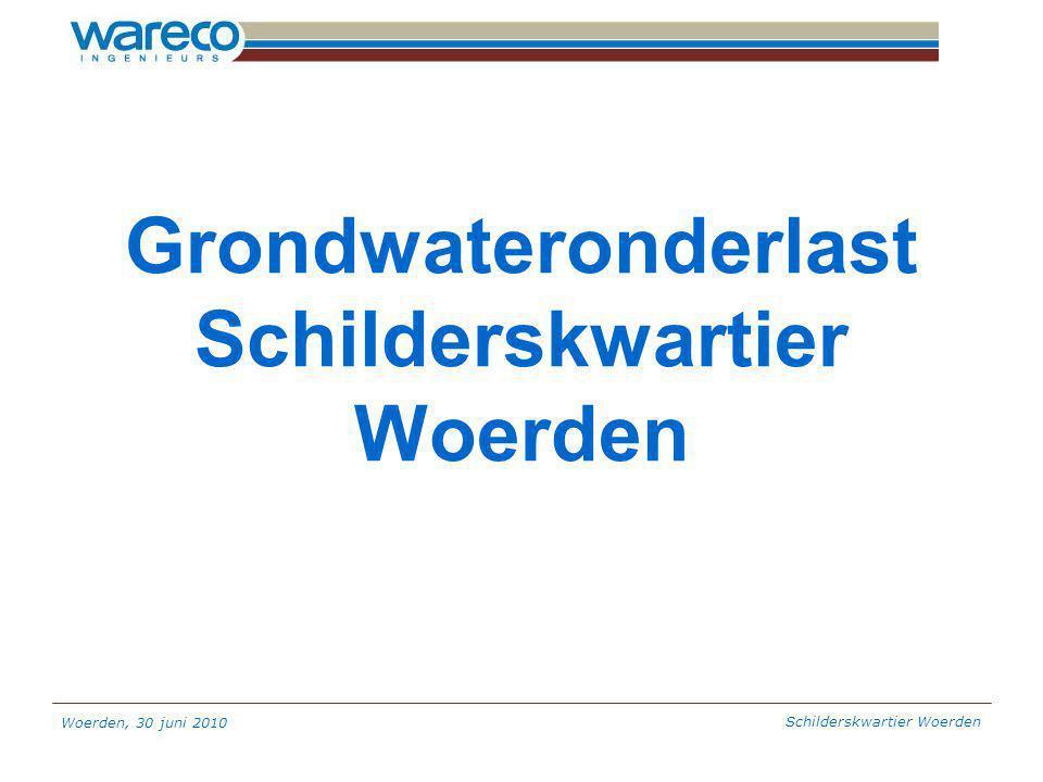 Woerden, 30 juni 2010 Schilderskwartier Woerden Grondwateronderlast Schilderskwartier Woerden