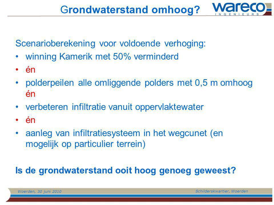 Woerden, 30 juni 2010 Schilderskwartier, Woerden Grondwaterstand omhoog.