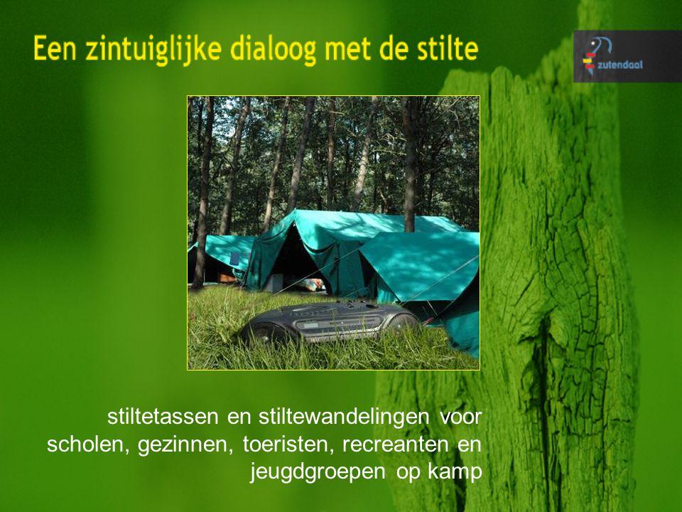 stiltetassen en stiltewandelingen voor scholen, gezinnen, toeristen, recreanten en jeugdgroepen op kamp