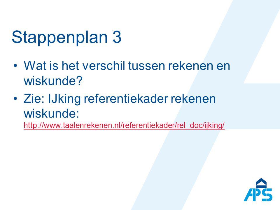 Stappenplan 3 Wat is het verschil tussen rekenen en wiskunde.