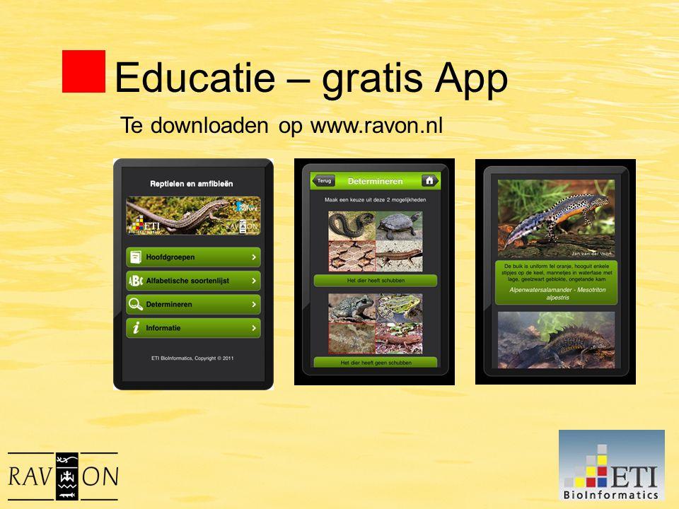 Educatie – gratis App Te downloaden op www.ravon.nl