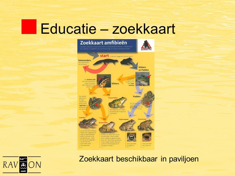 Educatie – zoekkaart Zoekkaart beschikbaar in paviljoen