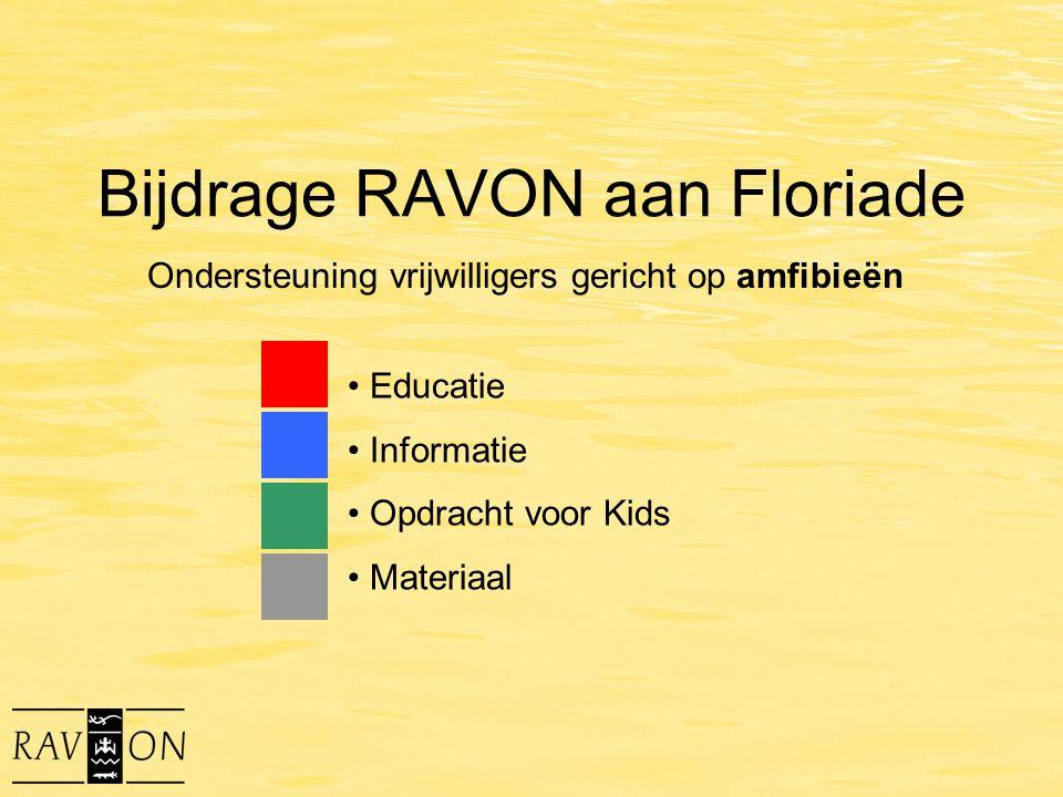 Bijdrage RAVON aan Floriade Educatie Informatie Opdracht voor Kids Materiaal Ondersteuning vrijwilligers gericht op amfibieën