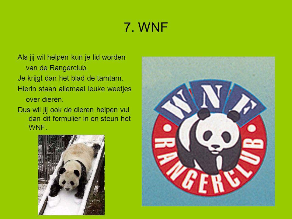 7.WNF Als jij wil helpen kun je lid worden van de Rangerclub.