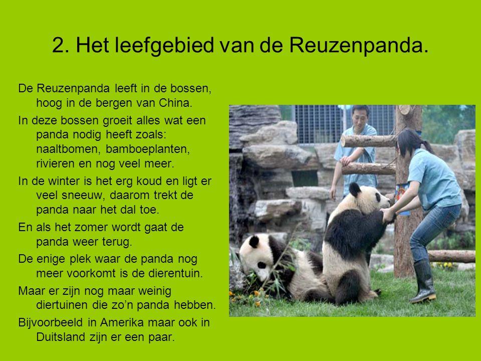 2.Het leefgebied van de Reuzenpanda.