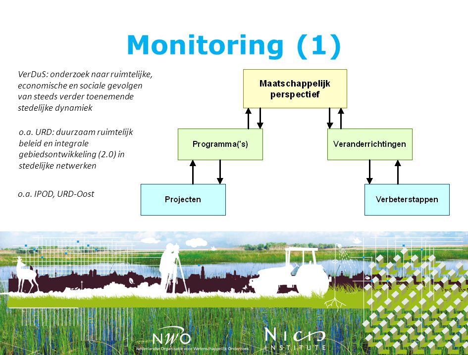 Monitoring (1) VerDuS: onderzoek naar ruimtelijke, economische en sociale gevolgen van steeds verder toenemende stedelijke dynamiek o.a.