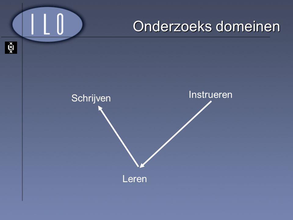 Resultaten (1) 1.Effect op Leren 1. Schrijven: Observatie > Oefenen 2.