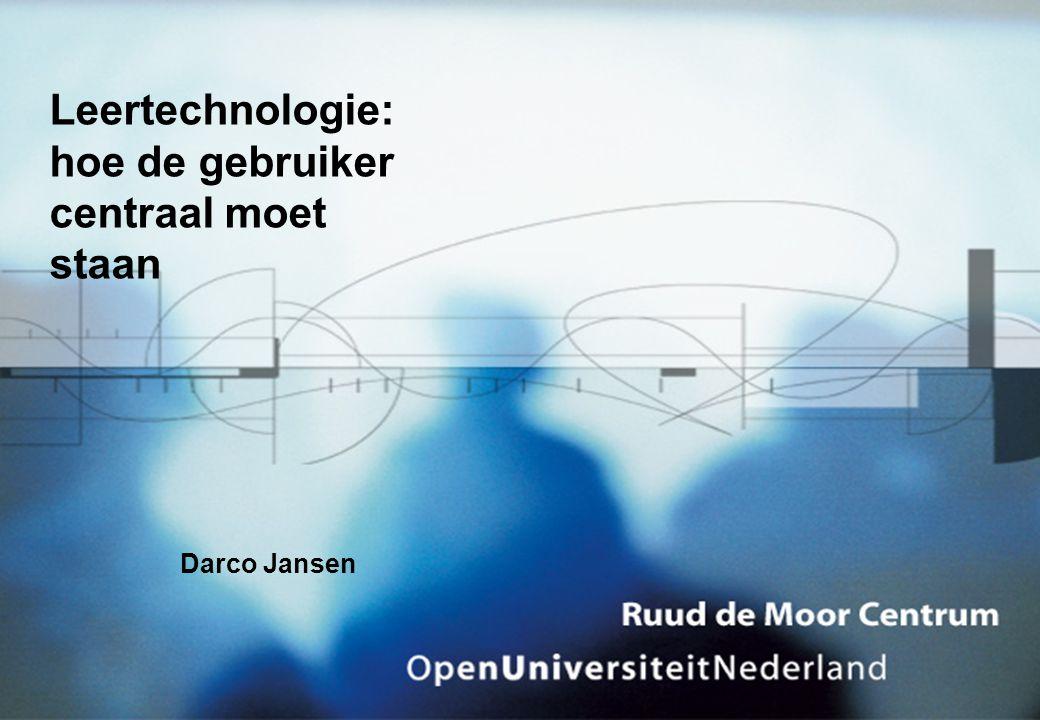 Leertechnologie: hoe de gebruiker centraal moet staan Darco Jansen