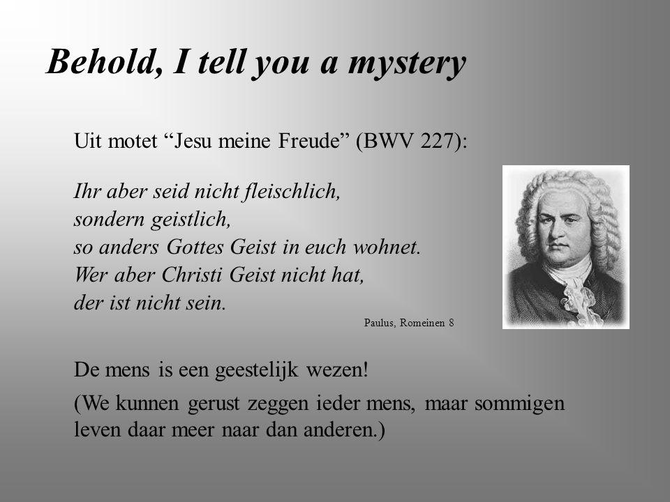 """Uit motet """"Jesu meine Freude"""" (BWV 227): Paulus, Romeinen 8 Ihr aber seid nicht fleischlich, sondern geistlich, so anders Gottes Geist in euch wohnet."""