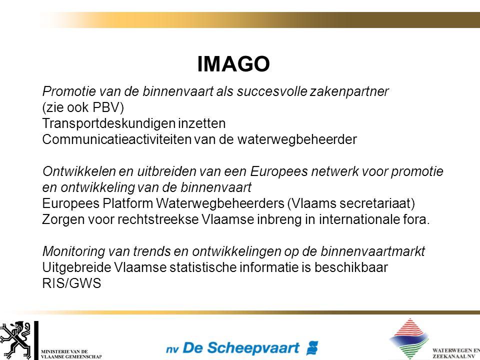 Promotie van de binnenvaart als succesvolle zakenpartner (zie ook PBV) Transportdeskundigen inzetten Communicatieactiviteiten van de waterwegbeheerder