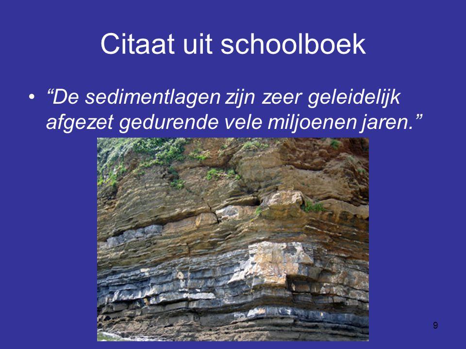 10 Feit: versteende bomen door meerdere gesteentelagen De gesteentelagen zouden miljoenen jaren in ouderdom verschillen.