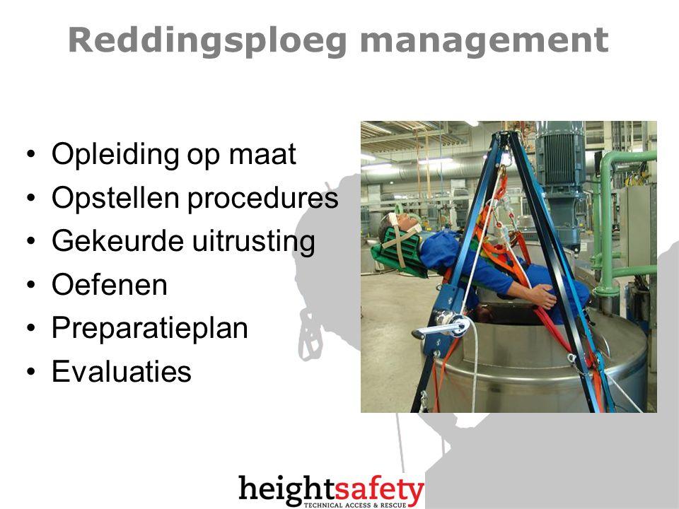 Reddingsploeg management Opleiding op maat Opstellen procedures Gekeurde uitrusting Oefenen Preparatieplan Evaluaties