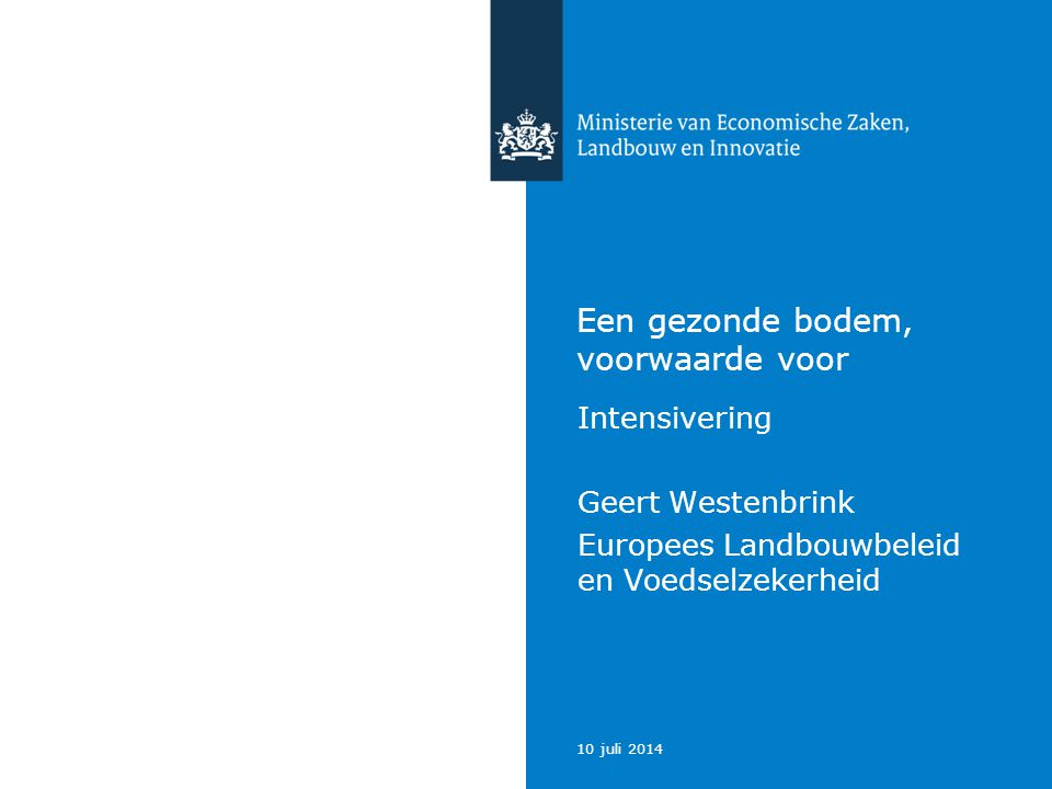 10 juli 2014 Ministerie van Economische Zaken, Landbouw en Innovatie 12 Conclusie The case of small-scale agriculture for food security is particularly relevant for Asia and Africa – the two continents with the largest underexploited potential for yield increase