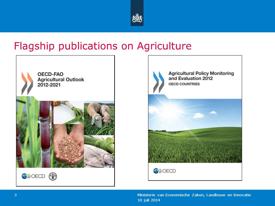 10 juli 2014 Ministerie van Economische Zaken, Landbouw en Innovatie 4 Belangrijkste boodschappen over markten Prices on a higher plateau Production expanding at slower rate Growing demand for food, feed, fuel Scope for area expansion limited (<5%) Increasing productivity is key But in a more sustainable way