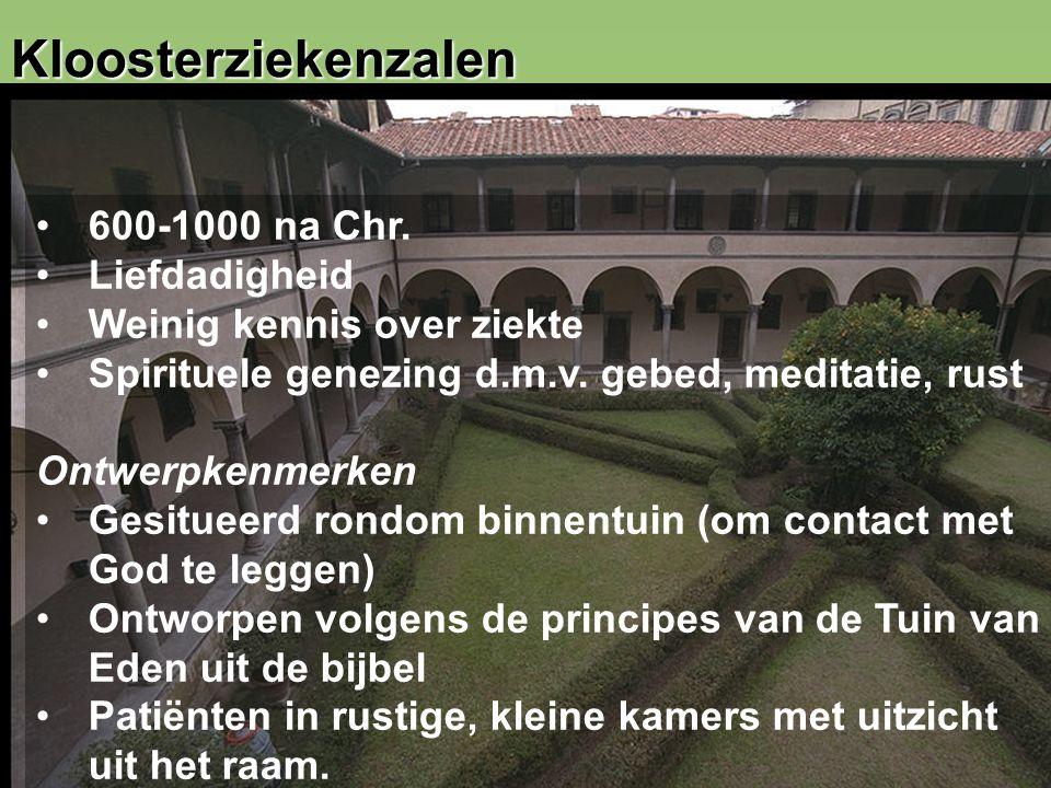 11 Kloosterziekenzalen 600-1000 na Chr.
