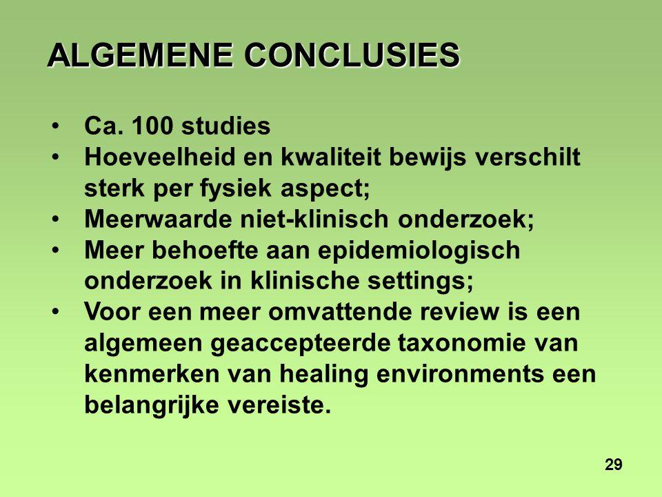 29 ALGEMENE CONCLUSIES Ca.