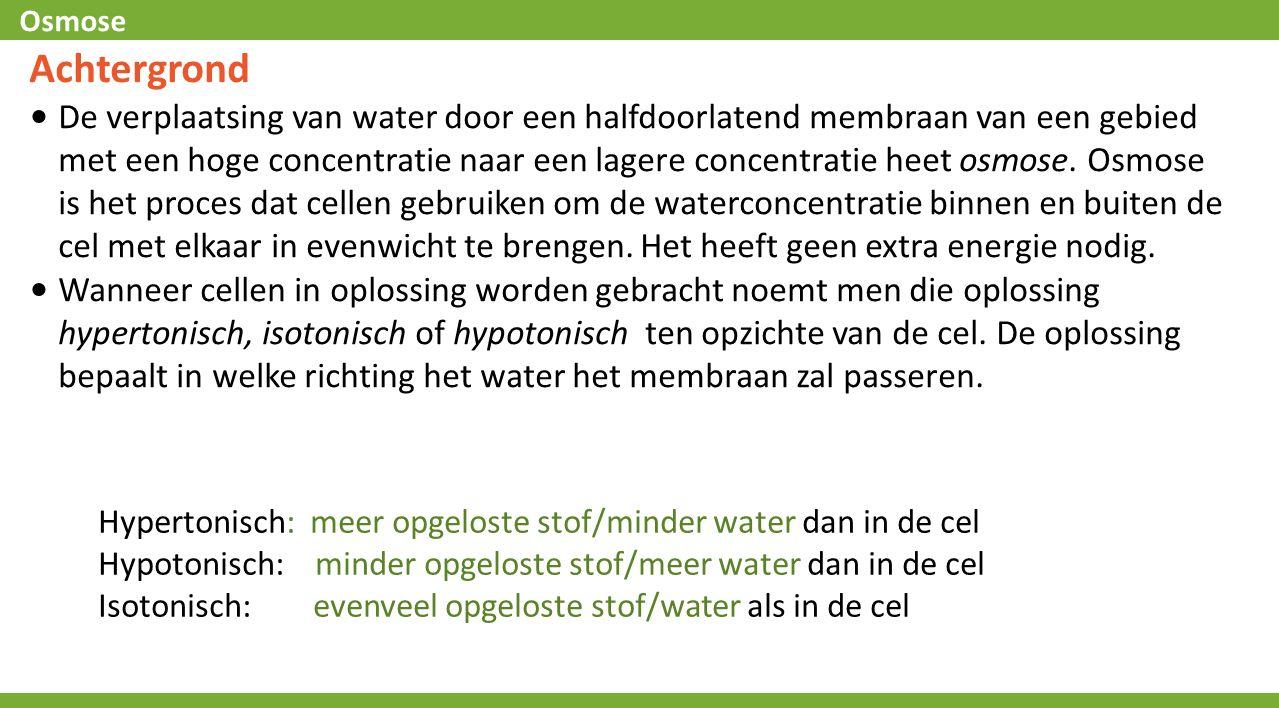 Osmose Samenvatting 3.Als een patiёnt een infuus met gedestilleerd water zou krijgen in plaats van een met een isotonische zoutoplossing wat zou er dan met zijn rode bloed lichaampjes gebeuren en waarom?