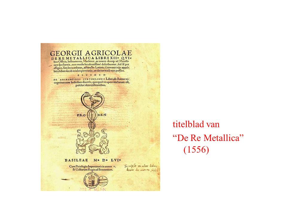 """titelblad van """"De Re Metallica"""" (1556)"""