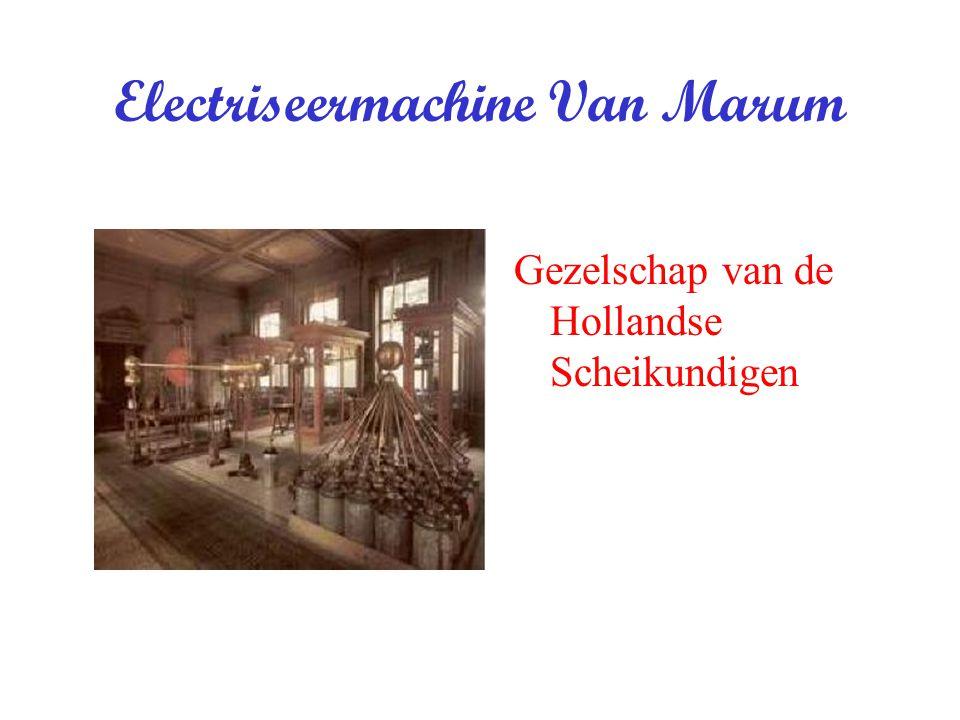 Electriseermachine Van Marum Gezelschap van de Hollandse Scheikundigen