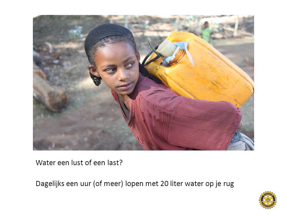 Water een lust of een last? Dagelijks een uur (of meer) lopen met 20 liter water op je rug