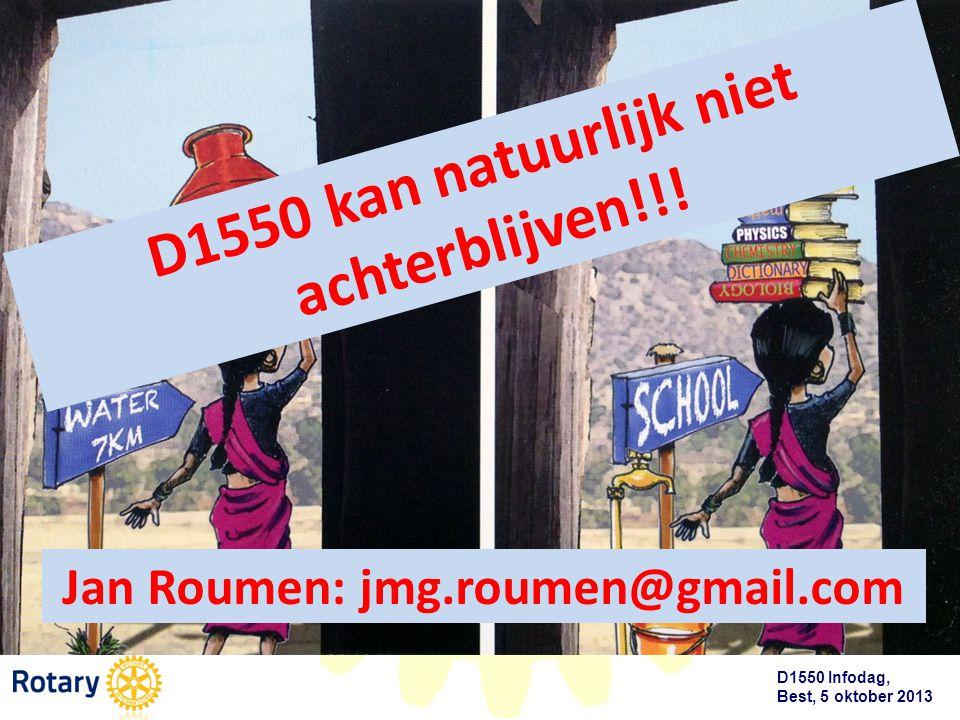 D1550 Infodag, Best, 5 oktober 2013 D1550 kan natuurlijk niet achterblijven!!! Jan Roumen: jmg.roumen@gmail.com